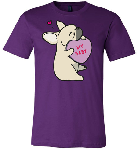 Frenchie Candy Heart Tee - Fawn