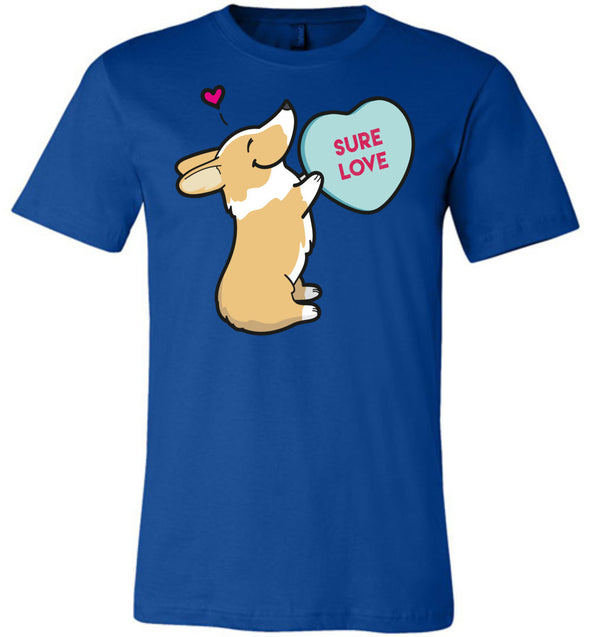 Corgi Candy Heart Tee - Red And White
