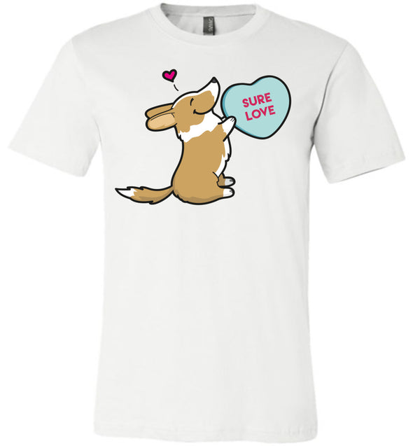 Cardigan Corgi Candy Heart Tee - Red