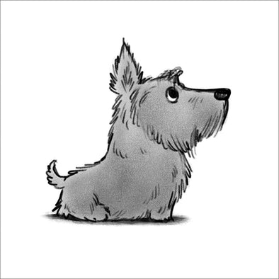 Sitting Scottie Mini Print