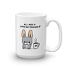 Coffee and Frenchies Mug - Blue Pied 1