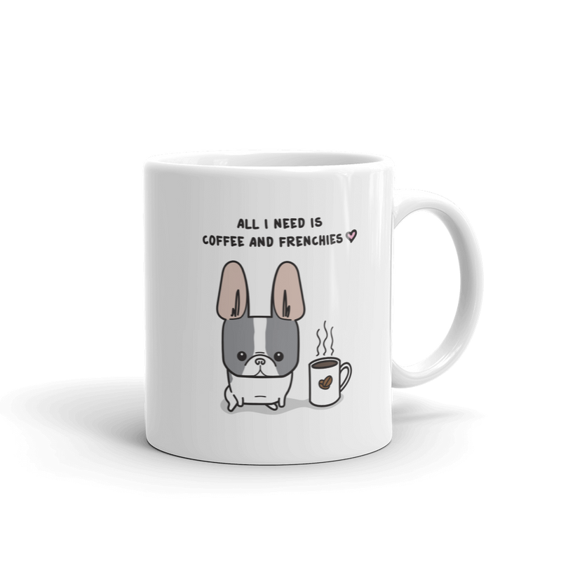 Coffee and Frenchies Mug - Blue Pied 2