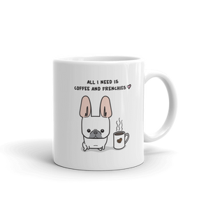 Coffee and Frenchies Mug - Cream 1