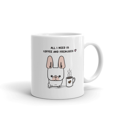 Coffee and Frenchies Mug - Cream 2