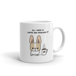 Coffee and Frenchies Mug - Fawn Pied 1