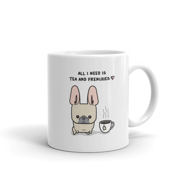 Tea and Frenchies Mug - Fawn