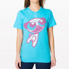 PowerPug t-shirt in turquoise.