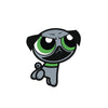PowerPug Green Sticker