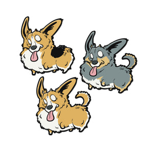 GAF Fluffs mini stickers