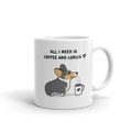 Coffee and Corgis Mug - Tri-Color 2