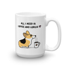 Coffee and Corgis Mug - Tri-Color 3