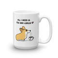 Tea and Corgis Mug - Red and White