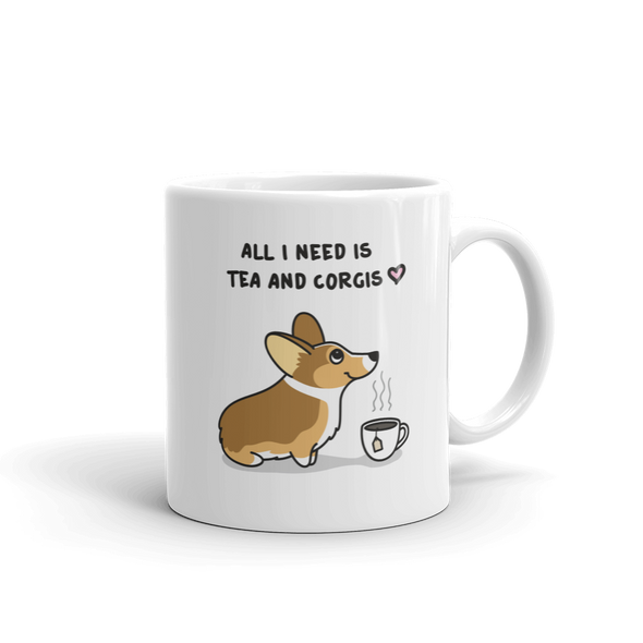 Tea and Corgis Mug - Sable