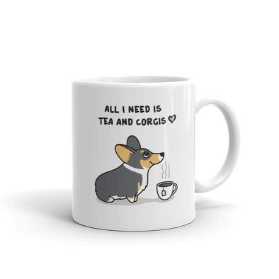 Tea and Corgis Mug - Tri-Color 1