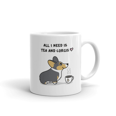 Tea and Corgis Mug - Tri-Color 2