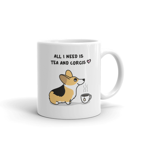 Tea and Corgis Mug - Tri-Color 3