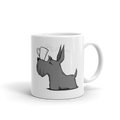 Scottie with Coffee Mug