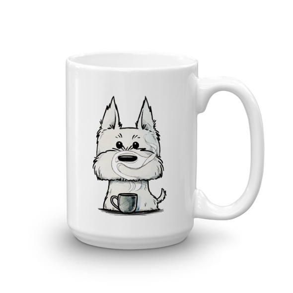 Westie with Coffee Mug