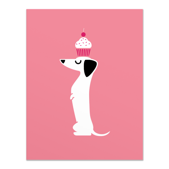 Cupcake Doxie Card