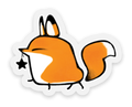 Fox Strut Sticker