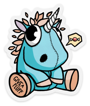 Plushie Unicorn Sticker