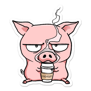 Coffee Pig sticker.