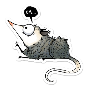Norbert the Opossum sticker.