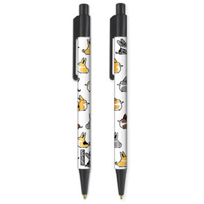 2 pack of All The Corgis pens.