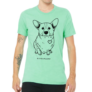 Corgi Patched Hearts Unisex Tee