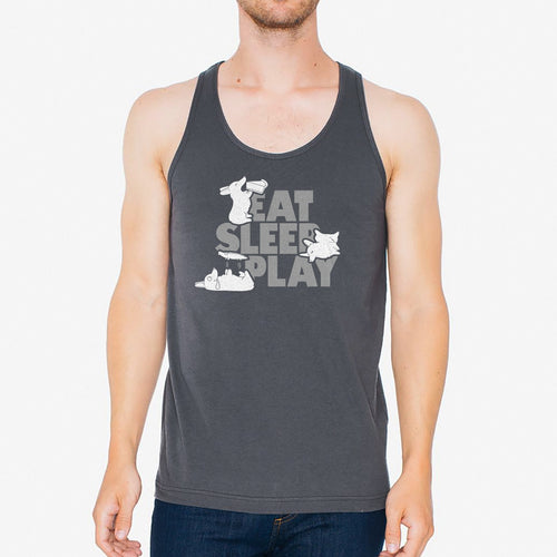Eat, Sleep, Play 2nd Ed. Unisex Tank