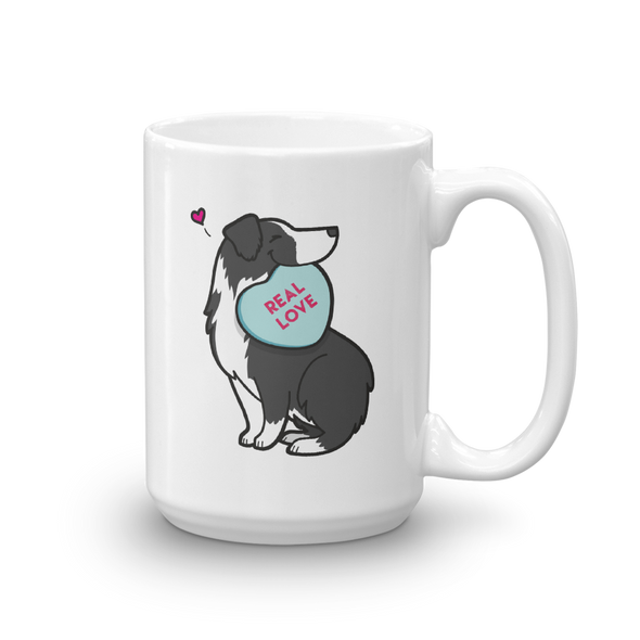 Aussie Candy Heart Mug - Black Bi-Color