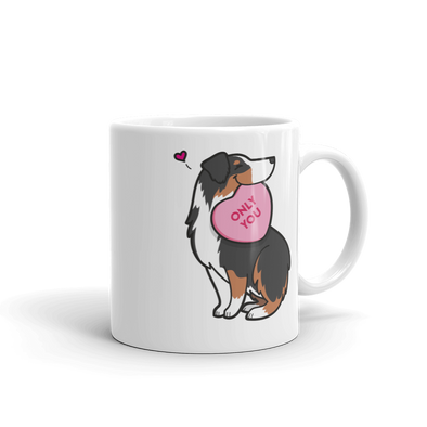 Intl - Aussie Candy Heart Mug - Black Tri-Color
