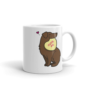 Aussie Candy Heart Mug - Red