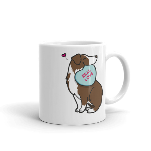 Intl - Aussie Candy Heart Mug - Red Bi-Color