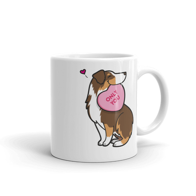 Intl - Aussie Candy Heart Mug - Red Tri-Color 1