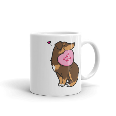 Intl - Aussie Candy Heart Mug - Red Tri-Color 2