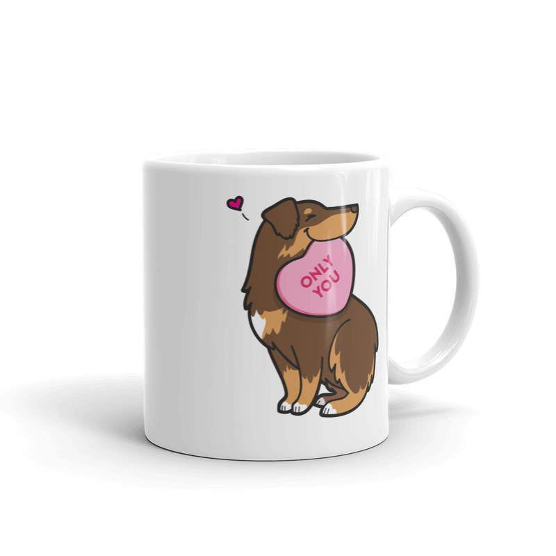 Aussie Candy Heart Mug - Red Tri-Color 2
