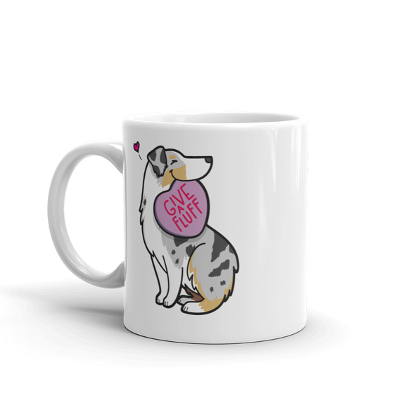 Intl - Aussie Candy Heart Mug - Tan Point Blue Merle 1