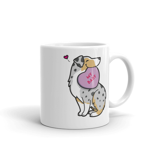 Intl - Aussie Candy Heart Mug - Tan Point Blue Merle 2