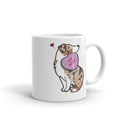 Intl - Aussie Candy Heart Mug - Tan Point Red Merle