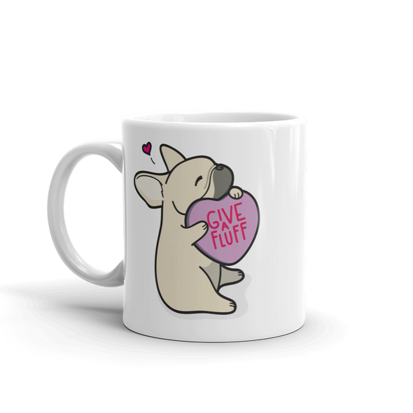 Frenchie Candy Heart Mug - Fawn