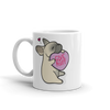 Frenchie Candy Heart Mug - Fawn with Mask