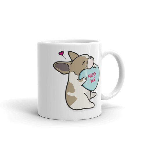 Intl - Frenchie Candy Heart Mug - Fawn Pied