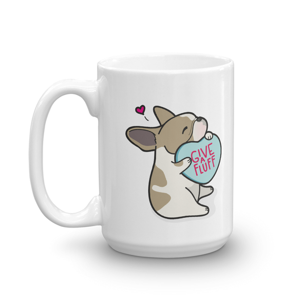 Frenchie Candy Heart Mug - Fawn Pied