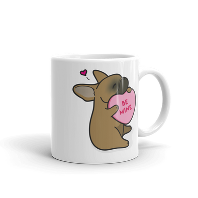 Intl - Frenchie Candy Heart Mug - Red Fawn