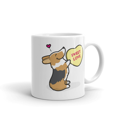 Intl - Corgi Candy Heart Mug - Tri-Color
