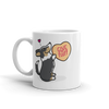 Intl - Corgi Candy Heart Mug - Black Headed Tri-Color with Tail