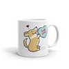 Intl - Corgi Candy Heart Mug - Red and White with Tail