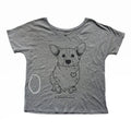 Corgi Patched Hearts Women's Slouchy Tee - Imperfect