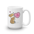 Corgi Candy Heart Mug - Sable